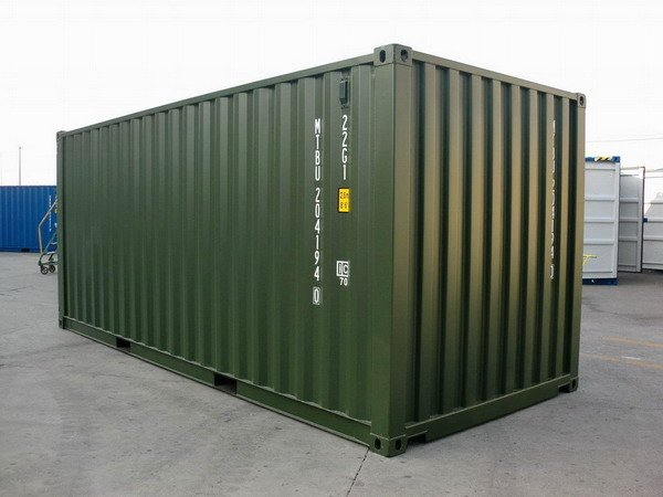 20 39 green ral 6007 shipping containers. Black Bedroom Furniture Sets. Home Design Ideas