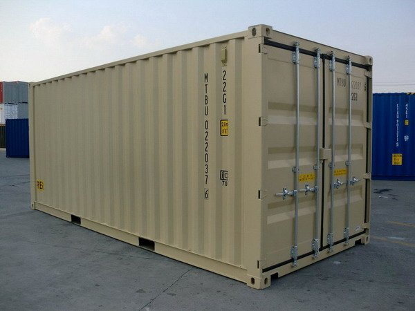 20 39 Double Door Ral 1001 Shipping Containers