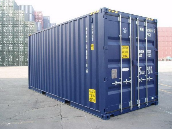 20 39 Hc Blue Ral 5013 Shipping Containers