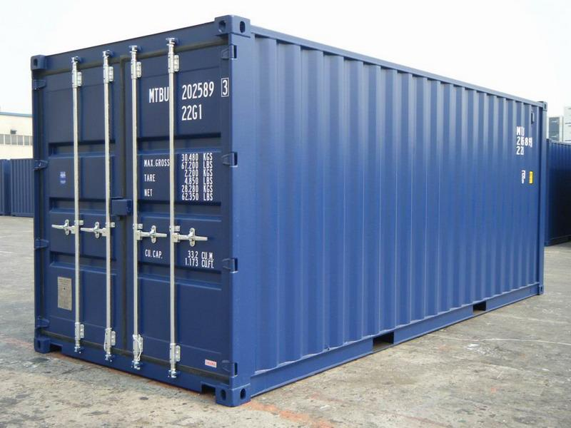 20 39 blue ral 5013 shipping containers