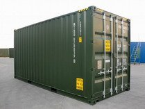 20' HC Green RAL 6007 shipping containers