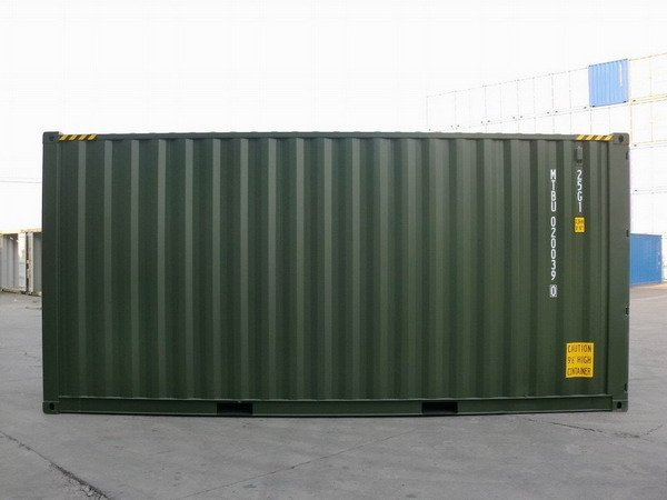 20 39 Hc Green Ral 6007 Shipping Containers